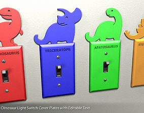 3D print model Dinosaur Light Switch Cover Plates with 1