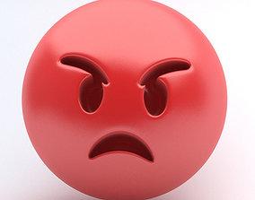 emoticon rage 3D model