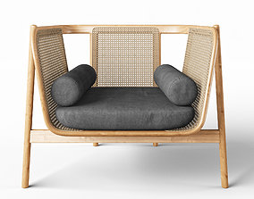 Hamper Lounge Chair 3D