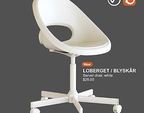 3D model ikea LOBERGET BLYSKAR Swivel chair white
