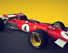 Ferrari F1 1970 3D asset