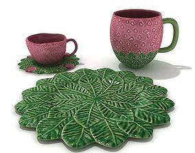 3D model Strawberry Tea Set