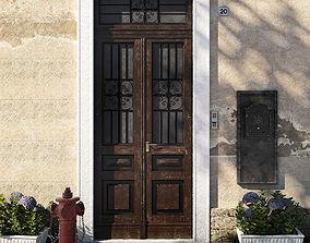 3D model Entrance portal with street assets