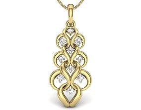Diamond Pendant For Ladies diamond-pendents 3D print model