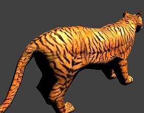 rigged 3D Low poly Tiger
