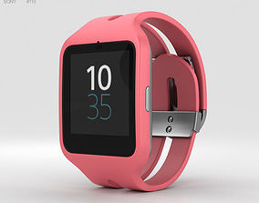 watch 3D model Sony SmartWatch 3 SWR50 Pink