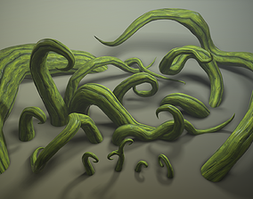 3D model Stylized roots pack