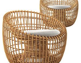 Nest lounge chair 3D model