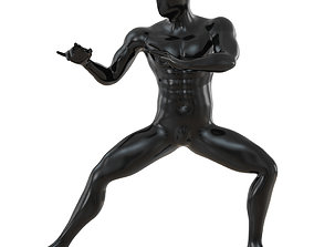 3D Abstract mannequin stands like Bruce Lee 141