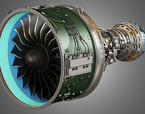 compressor PW GTF Geared Turbofan Engine 3D