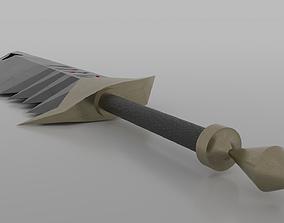 Fury fanstasy sword 3D asset