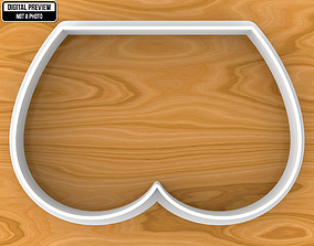 Tushie Cookie Cutter 3D print model