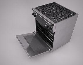 30 inch gas range cooker 3D