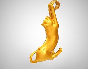 Stretched Cat Necklace 3D print model