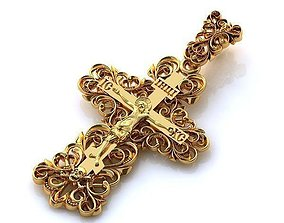 3D print model Cross patterned religion 2