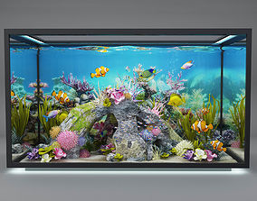 modern aquarium 3D model