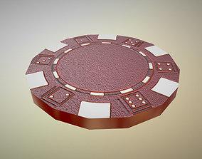 Poker Chip 3D asset