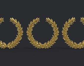 3D print model Laurel wreaths set