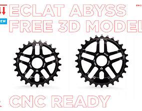 3D asset bmx sprocket eclat abyss 25t cnc ready free