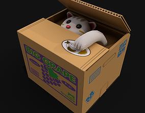 3D model Cat Stealing Piggy Bank
