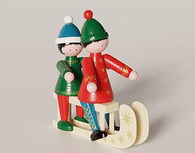 3D model Sled figurines