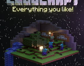 3D Minecraft and Lego crossover