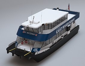 ocean New York East River Ferry Boat 3D model
