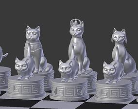 Chess Cats 3D print model