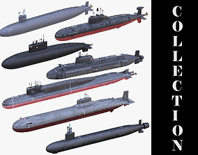 7 Military Submarines Collection 3D