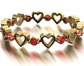 3D print model heart ring zeegold
