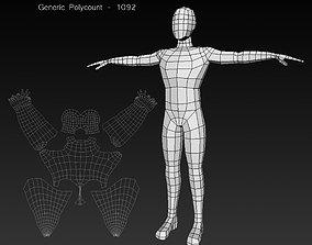 Human Male Low Poly Base Mesh 3D model