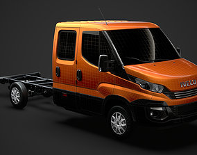 Iveco Daily Crew Cab L3 Chassis 2019 3D model