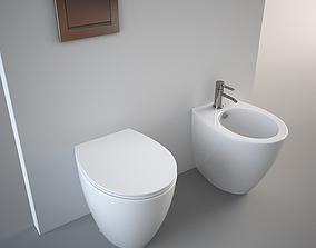 3D model Catalano Velis 57 Toilet and Bidet