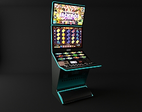 coins casino slot machine 3D model