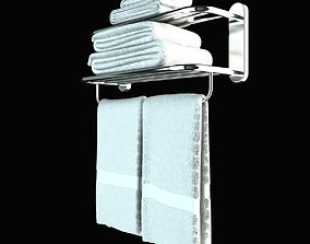 3D model Heated Towel Rail With Towels