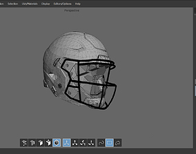 Footbal Helmet 3D model