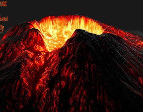 cliff Volcano 3D model VR / AR ready