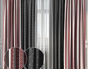 Curtain Set 133 3D model