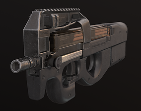 P90 PDW Submachine gun 3D model