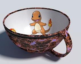 Charmnder evolution pokemon cup 3D asset realtime