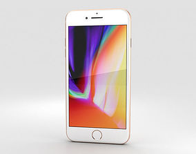 Apple iPhone 8 Plus Gold 3D
