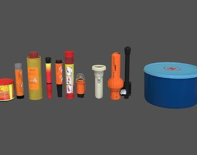 3D model Signal Flares and etc