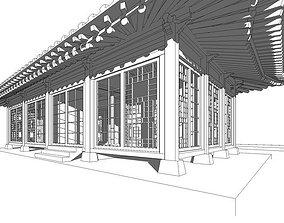 3D model Hanok Korean house