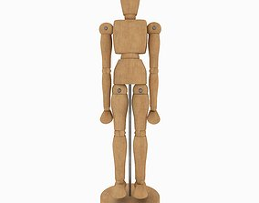 Wooden Jointed Manikin 3D