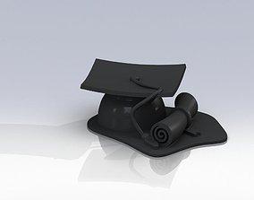 Gradution cap with diploma 3D printable model