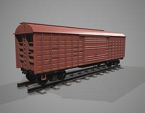 Covered Rail Car 3D asset