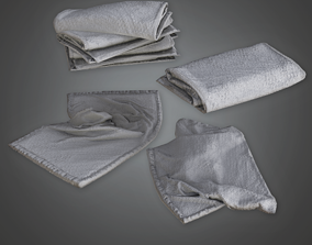 Towel Stack - HSG - PBR Game Ready 3D model