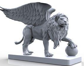 Lion Gargoyle 3 3D print model