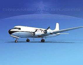 Douglas DC-6 Everts Air Fuel 3D model