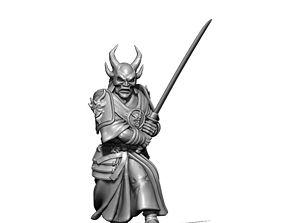 Samourai 3D print model - 35mm scale